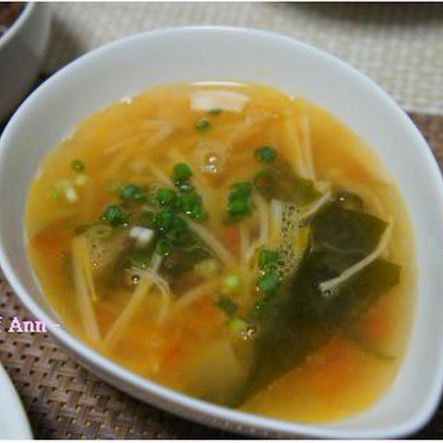 えのきとわかめの旨スープ