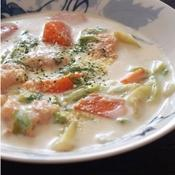 鮭と白菜のクリームシチュー♪