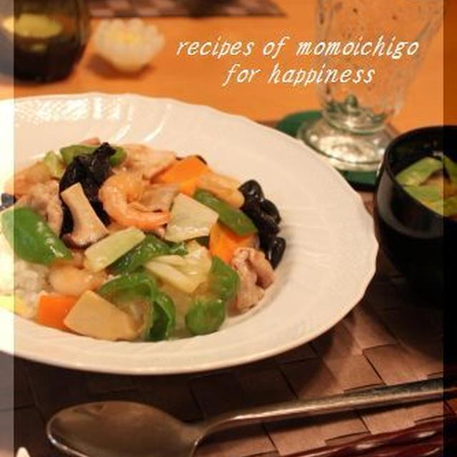 五目野菜あんかけご飯(中華丼)♪