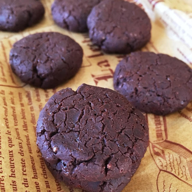 【アレルギー対応レシピ】サラダ油と米粉のココアクッキー♪妹のお気に入り