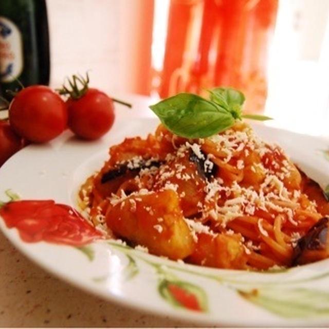 ナスとトマトは相性抜群「スパゲッティ アッラ ノルマ」