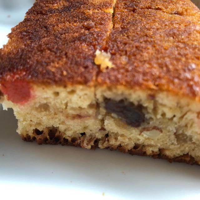ブランデーケーキ(ホットケーキミックス+フライパン)