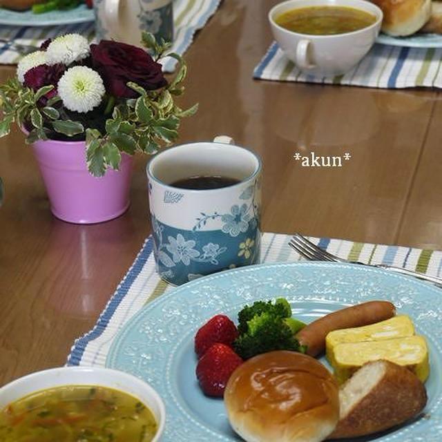 じっくりコトコト。野菜スープのための朝ごはん 〜385kcal〜