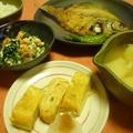 朝ごはん 焼き魚定食