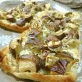 柚子胡椒マヨでうまっ♪ 椎茸とじゃこの油揚げピザ