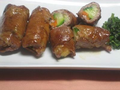 ズッキーニの豚肉巻き