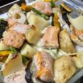 旬の味!生秋鮭と野菜とモッツァレラチーズのオーブン焼き