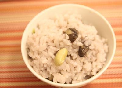 黒枝豆で、枝豆ご飯( ´ ▽ ` )ノ