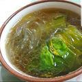 チンゲン菜と春雨のスープ
