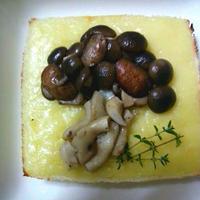 三種キノコでキノコデコパンQBBの大きいスライスチーズ