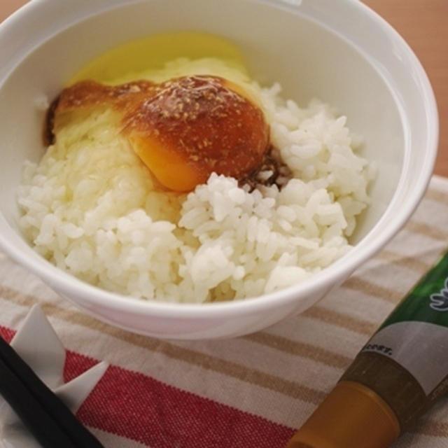 柚子こしょうで香り高い、卵かけご飯