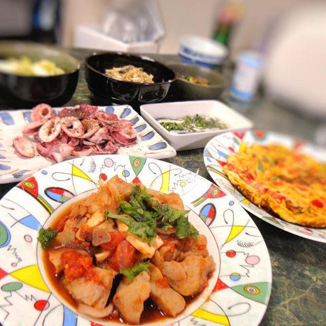 5月25日はスパニッシュな感じもするが、やっぱり家庭料理www7品だぜ