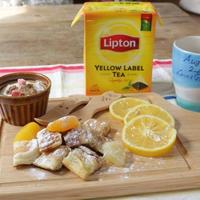 リプトン紅茶とフルーツいっぱいのパンケーキで♪ひらめき朝食