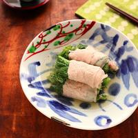 豚肉で巻いてボリュームアップ♡肉巻き菜の花のさっと煮