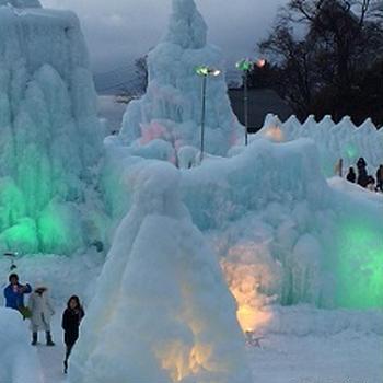 支笏湖、氷濤まつり~