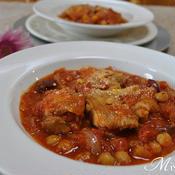 鶏肉とサラダ豆のトマト煮