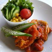 鶏肉のスパイシートマト煮込み