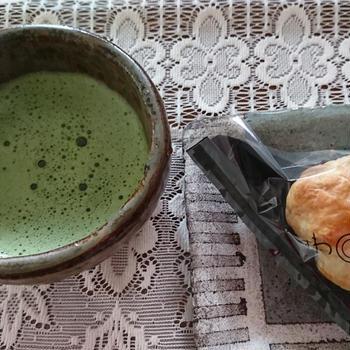 休日の朝~お抹茶~