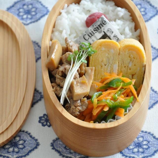 【お弁当おかずレシピ】3品15分で作る☆エリンギと豚肉の照り焼き弁当
