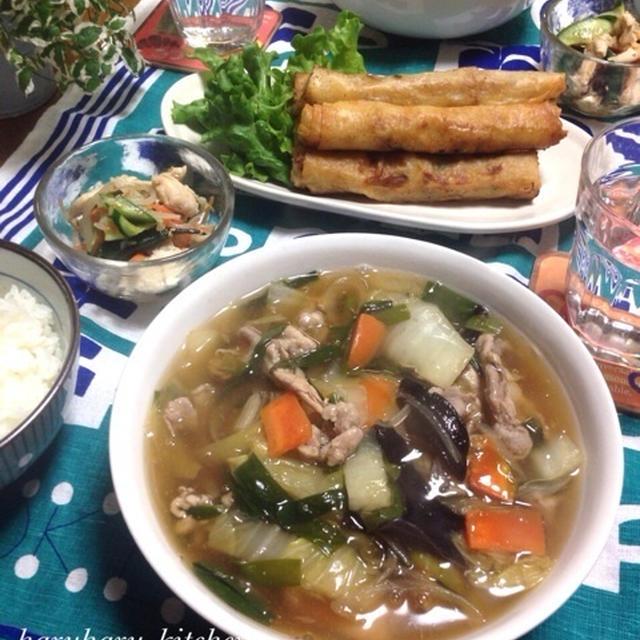 子供大好き‼︎野菜たっぷりあんかけラーメン♡…一日のスケジュール