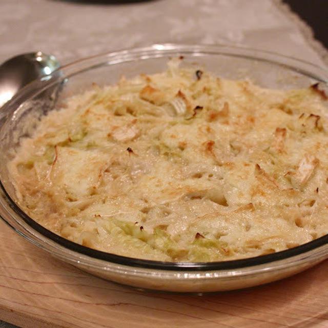 キャベツ使い切りレシピ:キャベツのグラタン