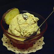サツマイモのシナモンアイスクリーム