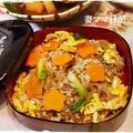 干し椎茸と鶏そぼろの混ぜご飯&鯵の南蛮漬け♪