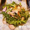 サラダ春菊とハムサラダ