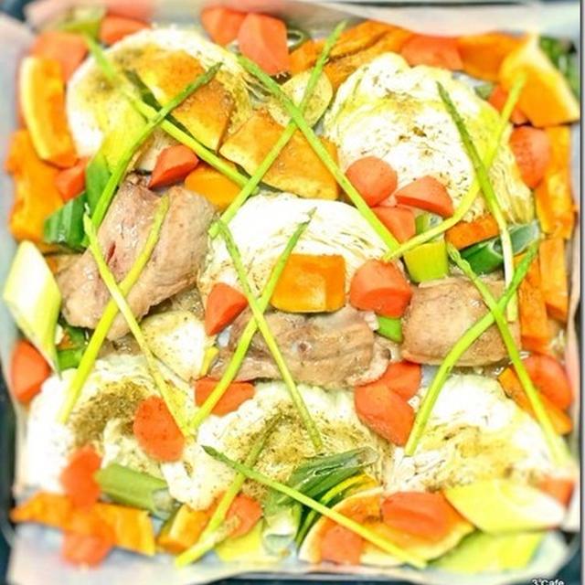 SNSで見かけた、村井さん家のぎゅうぎゅう焼きを野菜たっぷり豪快に作ってみた。
