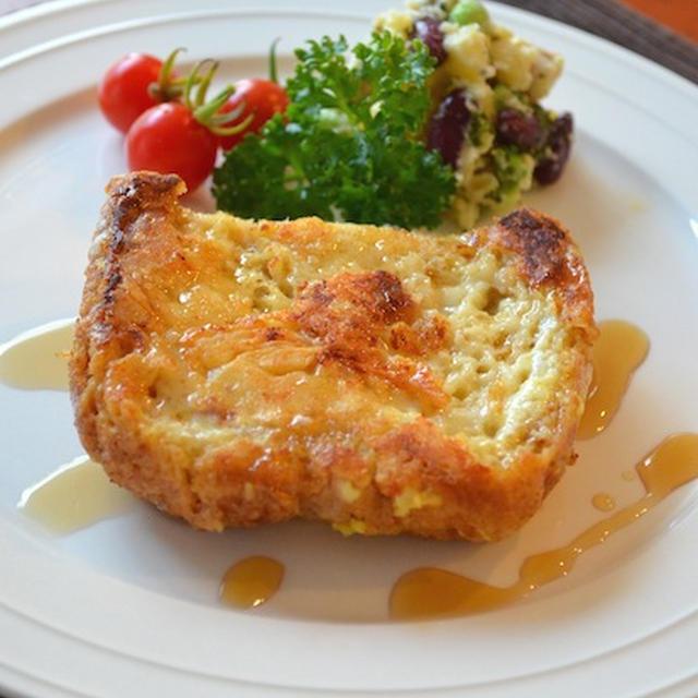 チーズとメイプルシロップのフレンチトースト☆