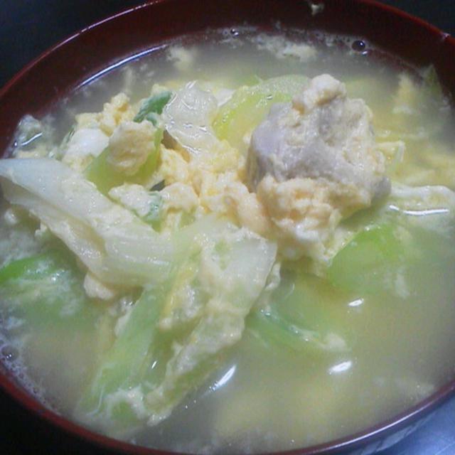 鶏と卵の親子スープ