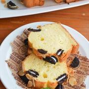 ホットケーキミックスで♪オレオのバニラパウンドケーキ ☆