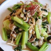 豚コマと小松菜の炒め物