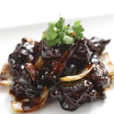 韓国風黒酢酢豚