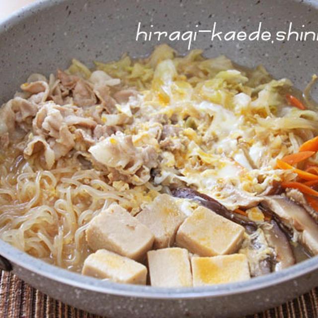 """フライパンで肉豆腐ならぬ肉高野豆腐【乾物&冷蔵庫にあるもので♪】。""""夏は夜"""""""