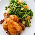 ひな鶏のロースト、春野菜添えPOUSSIN ROTIE AU LEGUMES PRIMEUR by mietchiさん
