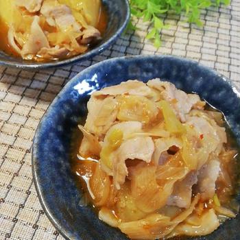新じゃがと豚バラの韓国風煮物