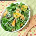 ハニーレモンドレッシングde柿とルッコラのサラダ