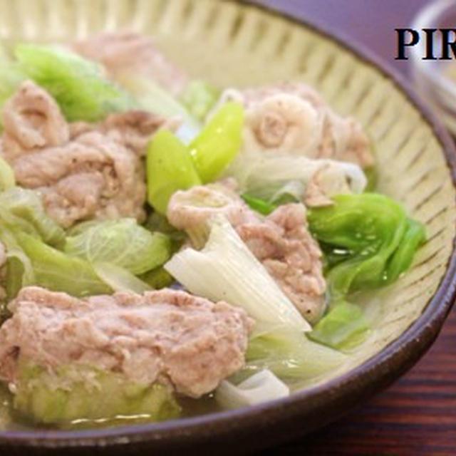 【201kcal】豚肉とレタスの蒸しもの。スイートマスタードソースで♪