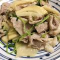 筍と豚肉炒め