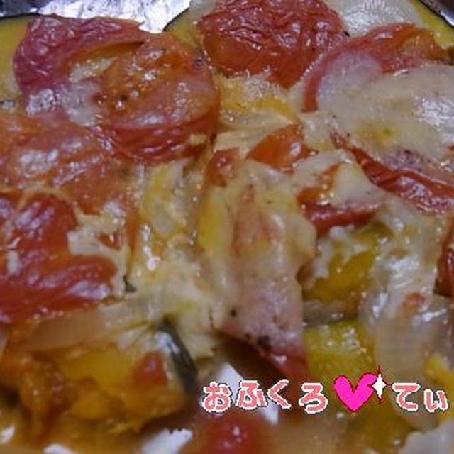 フライパン de トマトピザのれしぴ