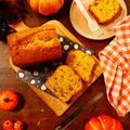 ハロウィンにぴったり★パウンドケーキは意外に簡単に作れちゃうお菓子の1つ♪パンプキンシードにアーモンドやクルミもたっぷり★カルダモン香る!かぼちゃのパウンドケーキ【レシピ1743】【スパイス大使】