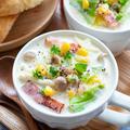 まろやか〜な♡キャベツとコーンの豆乳スープ♪