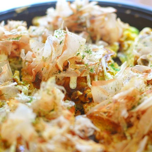 牡蠣のお好み焼き