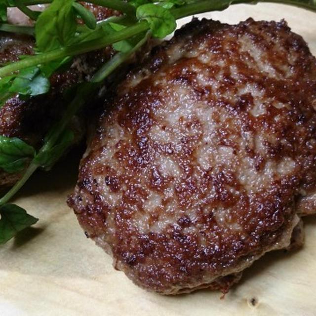 野郎飯流・塩とわさびで食べる肉汁溢れるハンバーグ