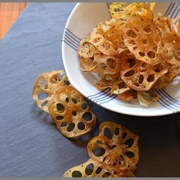 干しレンコンの海苔塩チップ