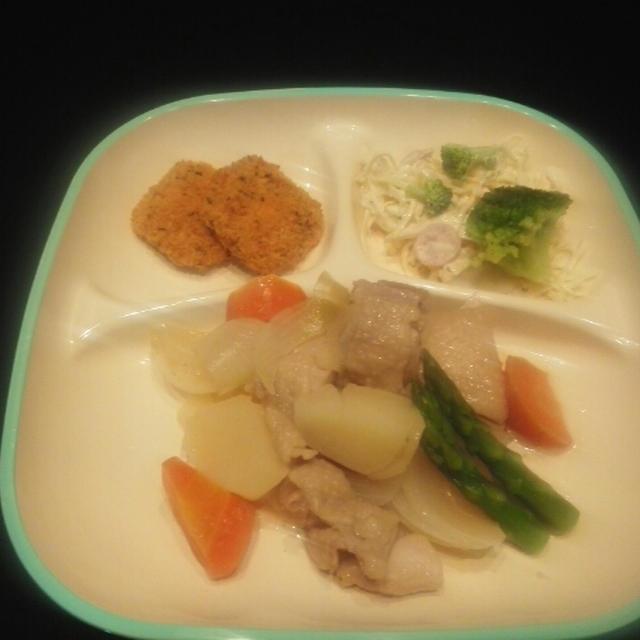 今日のごはん(圧力鍋DE鶏肉の煮物)