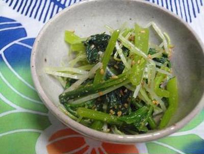 ☆小松菜と水菜のナムル☆