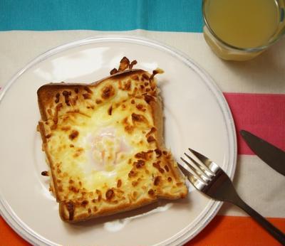 2度美味しい?キャベツと卵のチーズトースト*食パンで2品の料理を