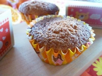 オレンジチョコチップのカップケーキ